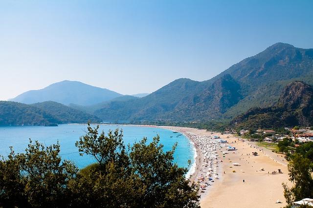 piesočná pláž v Turecku